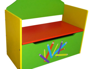Boys-girls-pencil-crayon-kids-childrens-wooden-toy-box-bench-sit-on-storage-box