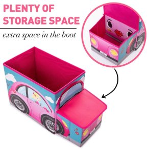Toy-Storage-Ottoman-Kids-Toy-Books-Folding-Chest-Seat-Play-Box-Bedroom-Stool-Car