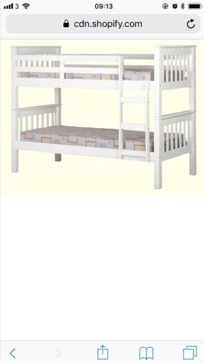 white bunkbeds for sale