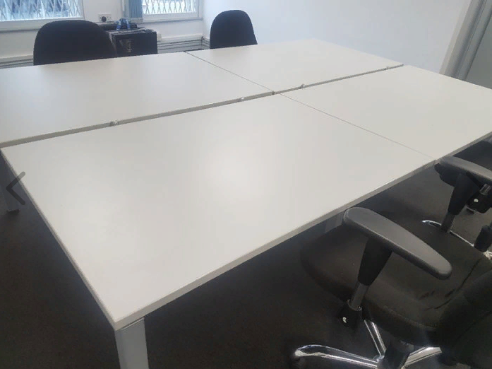 executive office 4 person workstation
