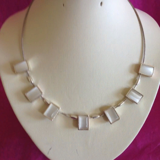 A faboulous silver/pearl necklace, New