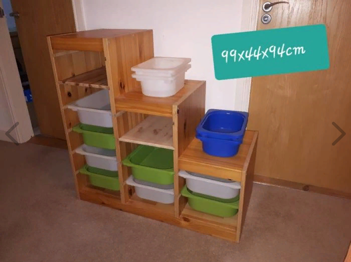 Trofast toy storage with shelves
