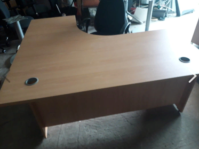Executive managers office desks with desk high pedistals