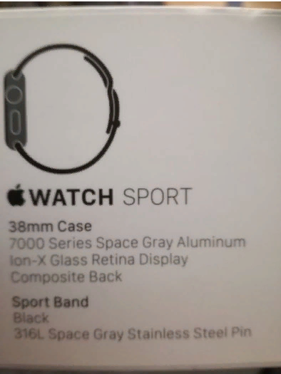 Apple Sports Watch – 1st Generation (38mm)