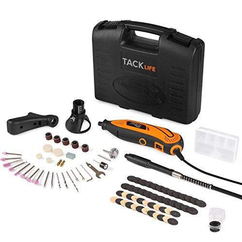 Rotary Tool Kit Variable Speed with Flex shaft, 80 Accessories, 3 Attachments and Carrying Case, Multi-functional for Around-the-House and Crafting Projects – RTD35ACL