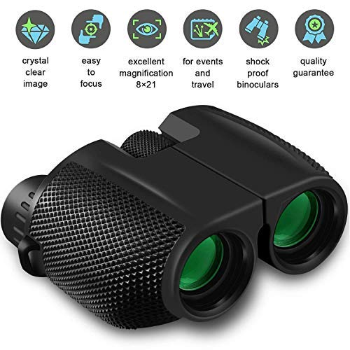 Binoculars Compact Size Motic53 High Powered 10×25, Lightweight Water-Resistant. Best for Bird Watching, Hunting, Sports Event Birding, Concerts, Travel. Hd Lenses. Bonus Cellphone Adapter.