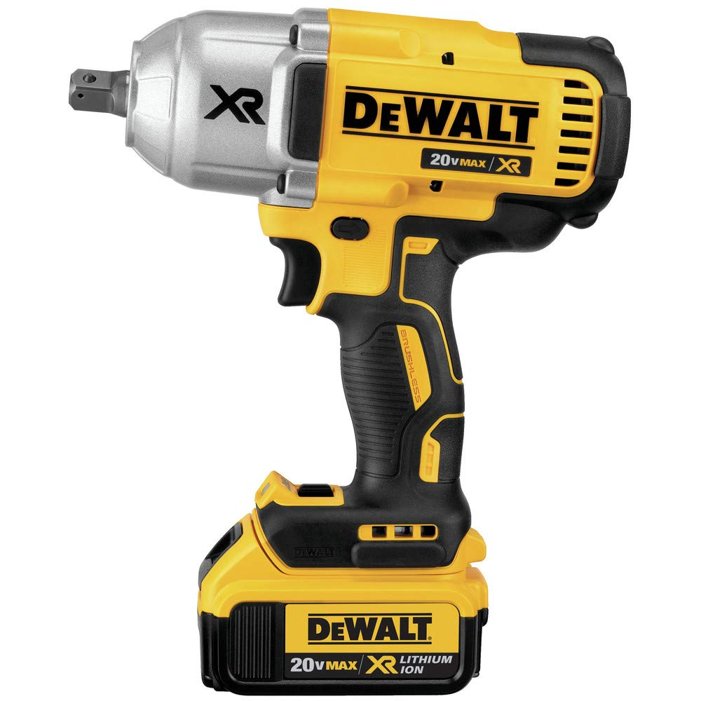 Dewalt DCF899M1R 20V MAX XR Cordless Lithium-Ion High Torque 1/2 in. Impact Wrench with Detent Pin Anvil