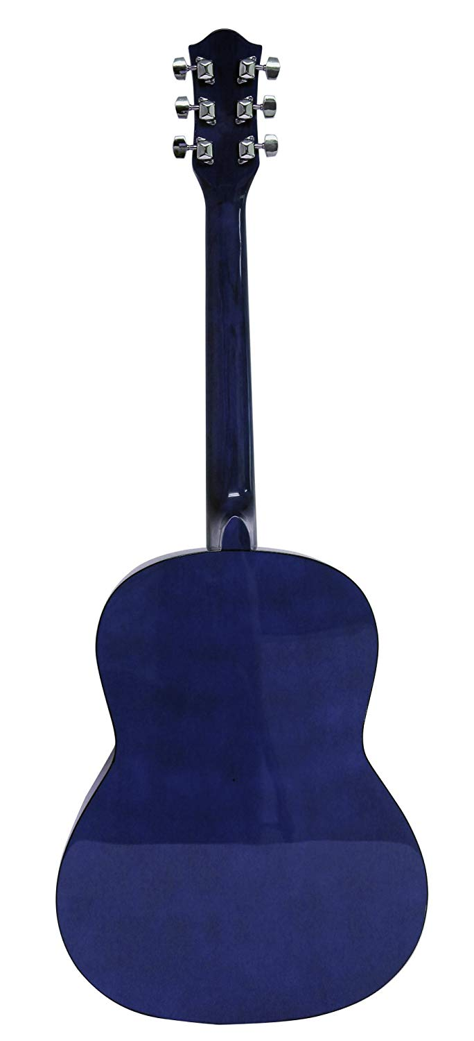 Martin Smith 6 String Acoustic Guitar SuperKit with Stand, Tuner, Gig Bag, Strap, Picks and Strings-Natural, Blue