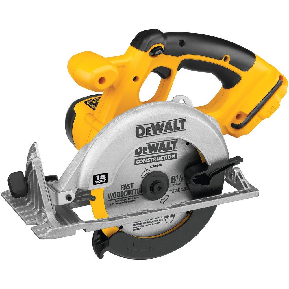 Dewalt DC390-2 18V XRP Cordless 6-1/2 in. Circular Saw with 2 Batteries
