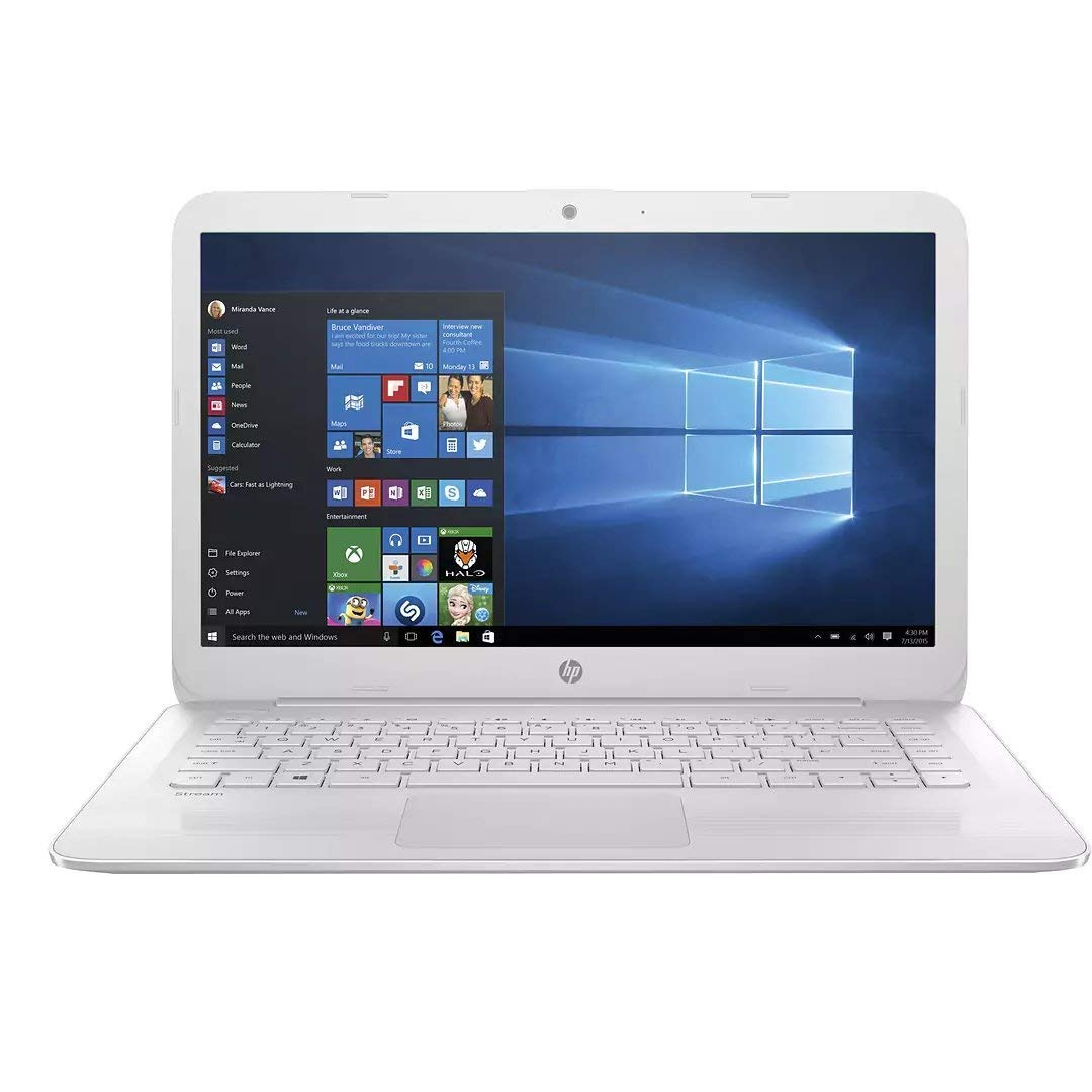"Flagship HP Stream 14.0"" HD WLED-backlit Laptop, Intel Dual-Core up to 2.48GHz, 4GB DDR3, 64GB SSD, free 1-yr Office 365 Personal, 802.11ac, Bluetooth, HDMI, Webcam, up to 10hr Battery Life, Win 10"