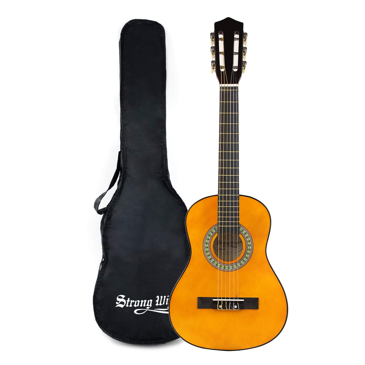 Strong Wind Classical Guitar 30 Inch 6 Nylon Strings Guitar Beginner Kit for Students Children Adult (1/2 Size) (classical guitar)