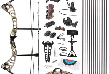 """Leader Accessories Compound Bow 30-55lbs 19"""" – 29"""" Archery Hunting Equipment with Max Speed 296fps, Right Handed"""