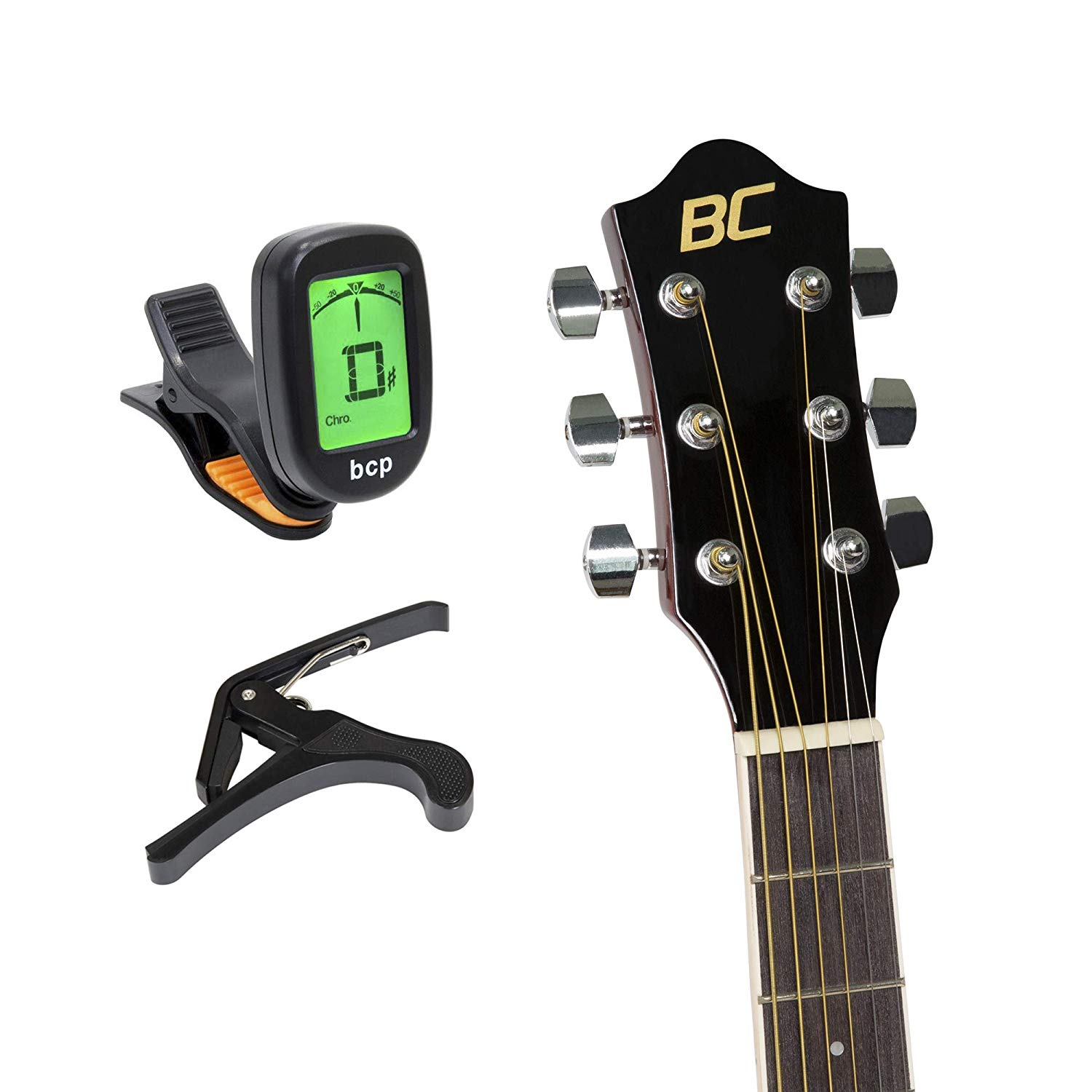 Best Choice Products 41in Full Size All-Wood Acoustic Electric Cutaway Guitar Musical Instrument Set Bundle w/ 10-Watt Amplifier, Capo, E-Tuner, Gig Bag, Strap, Picks, Extra Strings, Cloth – Sunburst