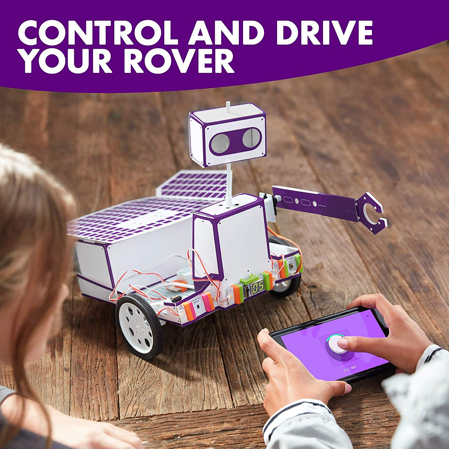 littleBits Space Rover Inventor Kit-Build and Control a Space Rover tech Toy with Hours of NASA ...